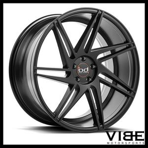 "20"" BLAQUE DIAMOND BD1 BLACK CONCAVE WHEELS RIMS FITS BMW E39 525 528 530 540"