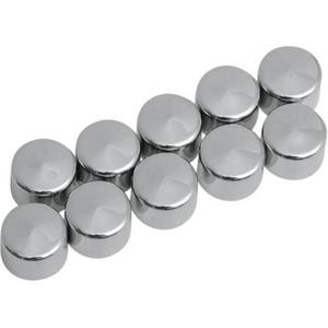 Drag Specialties 2402-0123 Individual Chrome Bolt Cover - 1/2in. shouldered hex bolt/nut