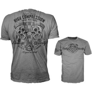 Lethal Threat High Compression Pistons T-Shirt (Gray, Large)