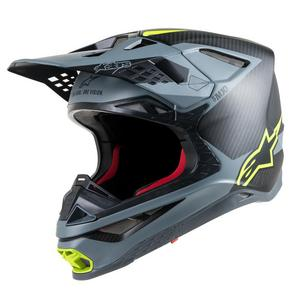 Alpinestars Supertech S-M10 Meta Helmet Black/Gray/Yellow Fluo (Gray, Large)