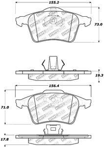 StopTech 305.09152 Street Select Brake Pads Fits 04-13 3 C70 S40 V50