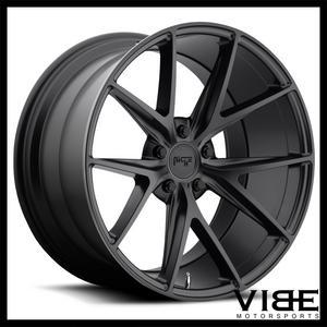 """20"""" NICHE MISANO BLACK CONCAVE WHEELS RIMS FITS MERCEDES W221 S550 S63 S65"""