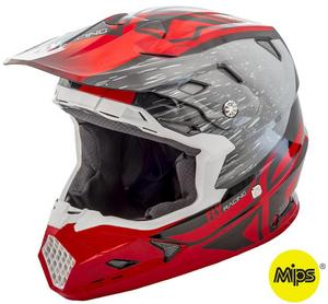 Fly Racing Toxin Resin Youth Helmet Red/Black (Red, Small)