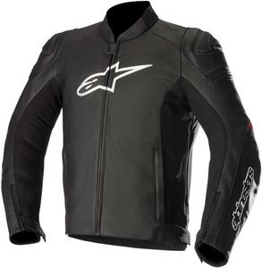 Alpinestars SP-1 Leather Motorcycle Riding Jacket Black/Red Mens Size 58