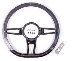 BILLET SPECIALTIES 14 in Black Aluminum Formula Steering Wheel P/N BLK29409