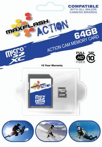 Maxflash DDMSDACT64GB Action Micro Memory Card - 64GB