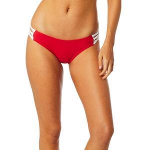 Fox Bolt Lace Up Womens Bikini Bottom Bright Red (Red, X-Large)