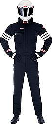 SIMPSON SAFETY Black/White Large 1 Piece Driving Suit P/N 0402311