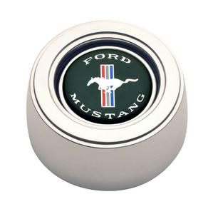GT Performance Products GT3 Horn Button Ford Mustang Logo Polished P/N 11-1525