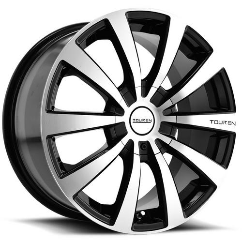 "4-Touren TR3 16x7 4x100/4x4.5"" +42mm Black/Machined Wheels Rims 16"" Inch"