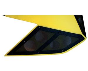 RSI Racing V-21 Air Vents for Ski-Doo XP Chassis - Shock Tower Vents