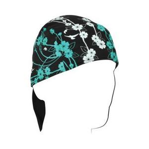 Zan Headgear Flydanna Bamboo/Cotton Headwrap Flowers (Green, OSFM)
