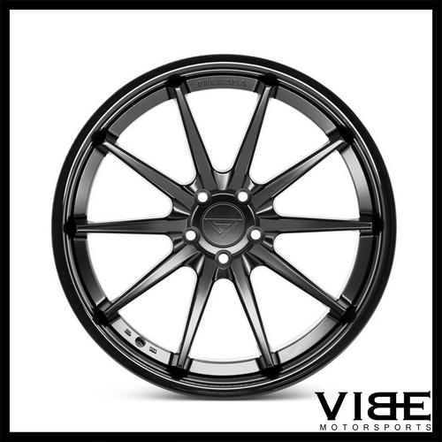 20 Ferrada Fr4 Black Concave Wheels Rims Fits Bmw E39 525 528 530