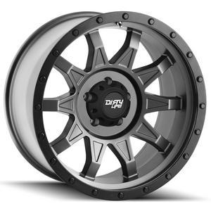 "Dirty Life 9301 Roadkill UTV 18x9 8x6.5"" -12mm Gunmetal/Black Wheel Rim 18"" Inch"