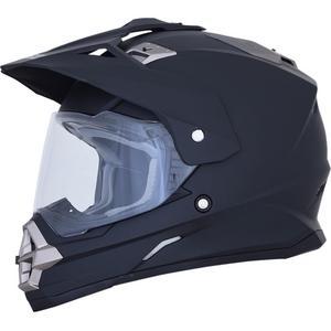 AFX FX-39 Dual Sport Series 2 Solid Helmet Matte Black (Black, Small)