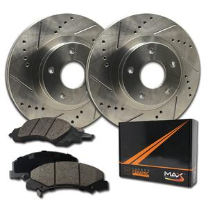 Max Brakes Rear Performance Brake Kit [ Premium Slotted Drilled Rotors + Ceramic Pads ] KT083032 Fits: 2002 - 2007 Mercedes Benz C230 | 2001 - 2005 C240 | 2004 - 2008 Chrysler Crossfire