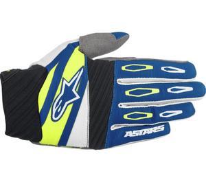 Alpinestars Techstar Factory Gloves Navy/White/Fluorescent Yellow (Blue, XX-Large)