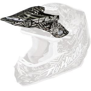 Fly Racing FLY F2 VISOR BLK/SIL Visor for F2 Carbon Helmet - Black/Silver