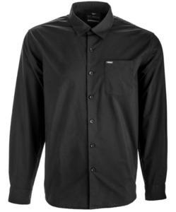 Fly Racing Long Sleeve Button Up Shirt (Black, Medium)