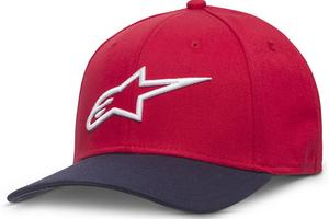Alpinestars Ageless Curve Hat Red/Navy (Red, Large - X-Large)