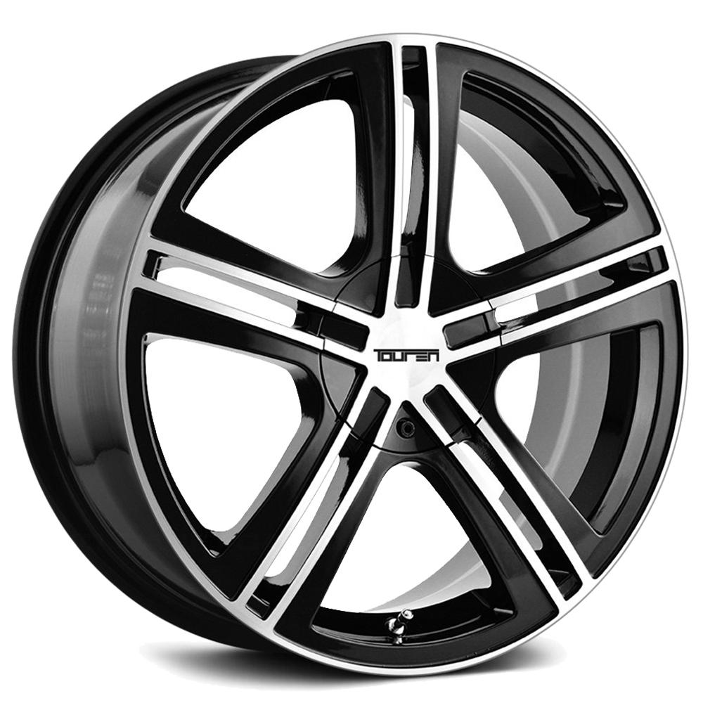 "4-Touren TR62 16x7 5x110/5x115 +40mm Black/Machined Wheels Rims 16"" Inch"