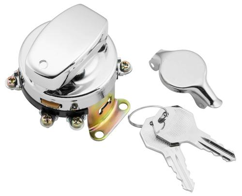 Twin Power 370050 Fat Bob Style Ignition Switch - Chrome