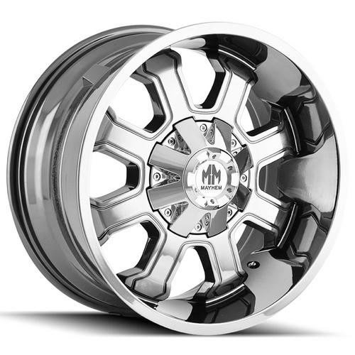 "4-Mayhem 8103 Fierce 20x9 8x180 +0mm Chrome Wheels Rims 20"" Inch"