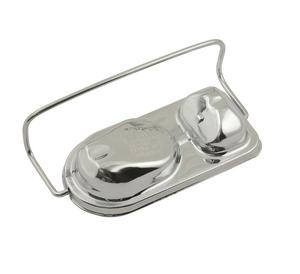 """Mr. Gasket 5274 Master Cylinder Cover Chrome Plated Steel 2.75x5.75"""" Single Bail"""