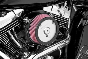 Arlen Ness 50-571 Big Sucker Stage I Air Filter Kit - Black Backing Plate - Stainless Steel Filter