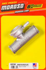 Moroso Remote House Mount Filler Neck 1-1/4 in to 1-1/4 in Hose P/N 63745