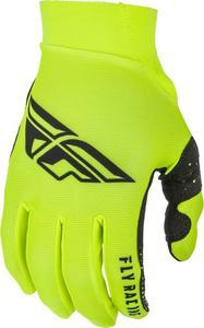 Fly Racing Pro Lite Gloves Hi-Vis/Black (Yellow, 12)