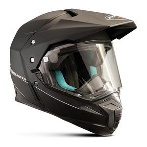 Zoan Synchrony Duo-Sport Solid Helmet Matte Black (Black, X-Small)
