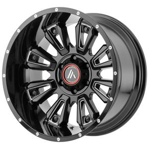 "4-Asanti AB808 Blackhawk 20x12 6x5.5"" -44mm Black/Milled Wheels Rims 20"" Inch"
