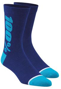 100% Rythym Socks (Blue, Small - Medium)