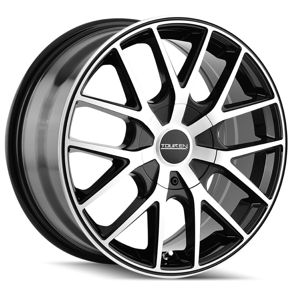 "4-Touren TR60 20x8.5 5x115/5x120 +20mm Black/Machined Wheels Rims 20"" Inch"