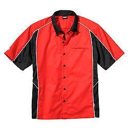 SIMPSON SAFETY Medium Red/Black Talladega Crew Shirt P/N 39012MR