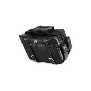 All American Rider 3036RVT Slant Flap-Over Style Saddlebag - Medium - Studded