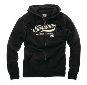100% Barstow Zip Hoody (Black, Medium)