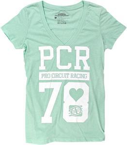 Pro Circuit 2016 Womens PCR V-Neck Short Sleeve T-Shirt Green  M