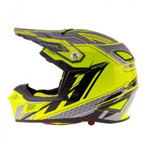Zox Z-MX10 Concept Off Road Full Face Motorcycle Helmet Hi-Vis Yellow Adult Size L