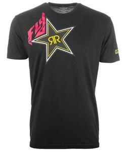 Fly Racing Rockstar T-Shirt (Black, XX-Large)