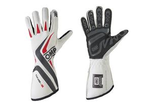 OMP Racing Medium White Single Layer Driving Gloves P/N IB755EWM