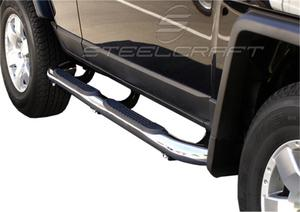 Steelcraft 233100 3 in. Round Side Bar Fits 07-17 Tundra