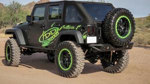 Addictive Desert Designs R952251370103 Venom Rear Bumper Fits Wrangler (JK)