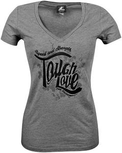 Speed & Strength Tough Love Womens V-Neck T-Shirt (Gray, XX-Large)