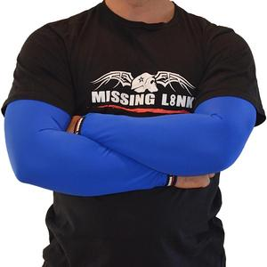 Missing Link Armpro Sleeves Solid Blue (Blue, Small)