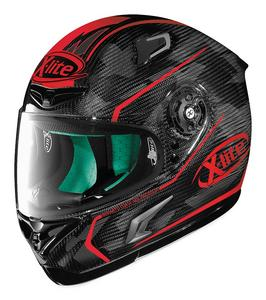 X-Lite X-802RR Ultra Marquetry Motorcycle Helmet Carbon Red Adult Size XL