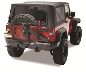 Bestop HighRock 4x4 Rear Bumper w Tire Carrier - Jeep 2007-2018 Wrangler JK 2DR