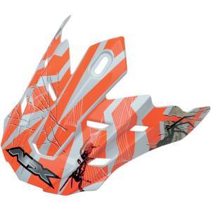 AFX 0132-0726 Helmet Peak for FX-17Y (13 Models) - Trap Multi Orange