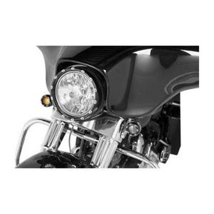 Arlen Ness 08-407 Fire-Ring L.E.D. Bezel with Amber L.E.D. Turn Signals - Black